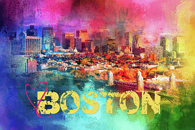 Photograph - Sending Love To Boston by Jai Johnson