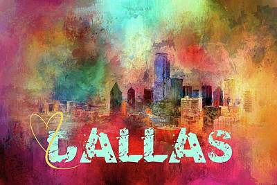 Photograph - Sending Love To Dallas by Jai Johnson