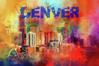 Photograph - Sending Love To Denver by Jai Johnson