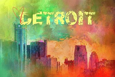 Photograph - Sending Love To Detroit by Jai Johnson
