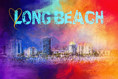Photograph - Sending Love To Long Beach by Jai Johnson