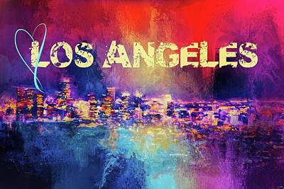 Photograph - Sending Love To Los Angeles by Jai Johnson