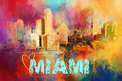 Photograph - Sending Love To Miami by Jai Johnson