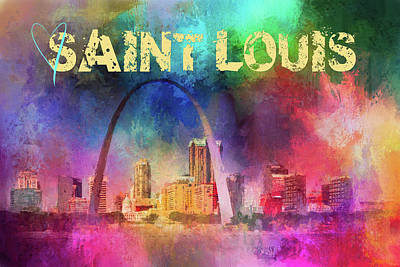 Photograph - Sending Love To Saint Louis by Jai Johnson