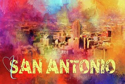 Photograph - Sending Love To San Antonio by Jai Johnson