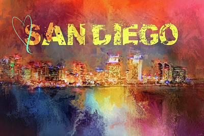 Photograph - Sending Love To San Diego by Jai Johnson