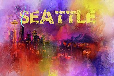 Photograph - Sending Love To Seattle by Jai Johnson