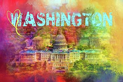 Photograph - Sending Love To Washington by Jai Johnson