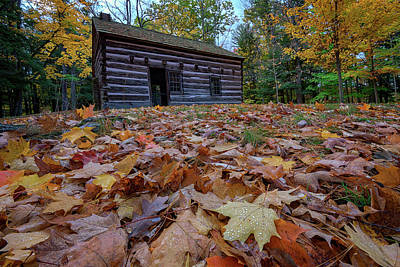 Log Cabins Photograph - Seneca Council Grounds by Rick Berk