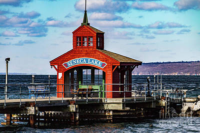 Photograph - Seneca Lake Gazebo by William Norton