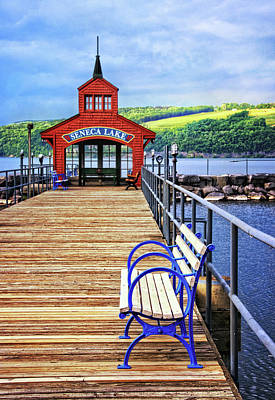 Photograph - Seneca Lake Pier by Carolyn Derstine