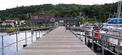 Photograph - Seneca Lake Pier Watkins Glen New York by Rose Santuci-Sofranko