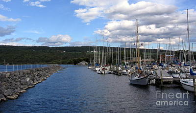 Photograph - Seneca Lake Watkins Glen Marina by Rose Santuci-Sofranko