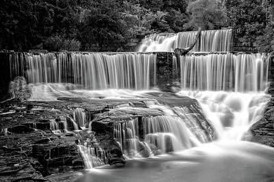 Photograph - Seneca Mills Fall   -   Senecamillsfallblkwhi172263 by Frank J Benz