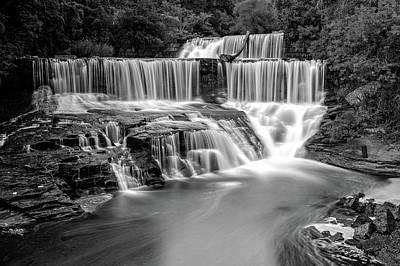 Photograph - Seneca Mills Fall  -  Senecamillsfallblkwhi172266 by Frank J Benz