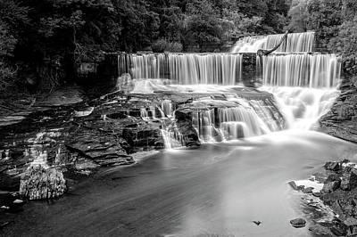 Photograph - Seneca Mills Fall   -   Senecamillsfallblkwhi172269 by Frank J Benz