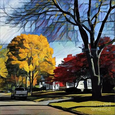 Photograph - Seneca Parkway Autumn by Jodie Marie Anne Richardson Traugott          aka jm-ART
