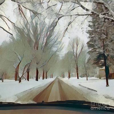 Photograph - Seneca Parkway Winter by Jodie Marie Anne Richardson Traugott          aka jm-ART
