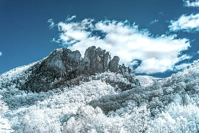 Photograph - Seneca Rocks In Infrared by Guy Whiteley