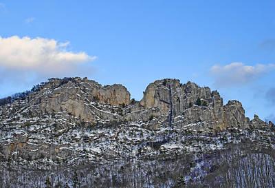 Seneca Rocks West Virginia During Winter Art Print