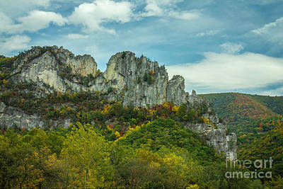 Photograph - Seneca Rocks West Virginia by Karen Jorstad
