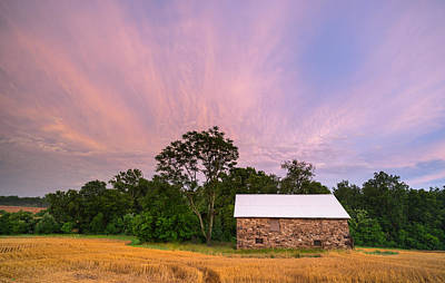 Seneca Stone Barn Looking Southeast Art Print by Martin Radigan