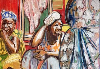 Print featuring the painting Senegal, 1965 by Gary Coleman