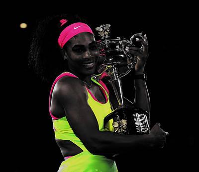 Venus Williams Mixed Media - Senera Williams Sweet Victory by Brian Reaves