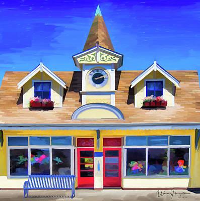 Painting - Senior Center  Poulsbo  Wa by Wally Hampton