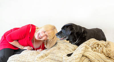 Photograph - Senior Dog And Owner by Jodi Jacobson