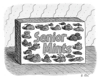 Packaging Drawing - Senior Mints by Roz Chast
