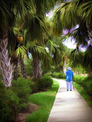 Photograph - Senior Walk In The Park by Rosalie Scanlon