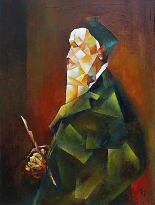 Painting - Senior With A Brush by Vlad Zabavskiy