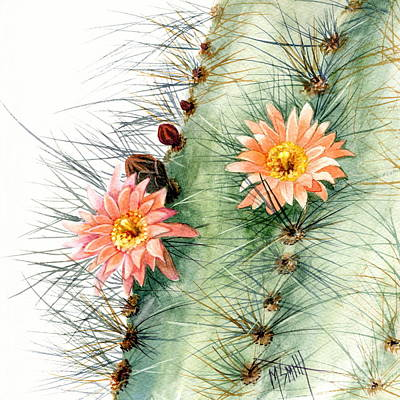 Desert Flower Painting - Senita Cactus by Marilyn Smith