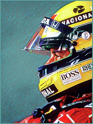 Digital Art - Senna Portrait by Gary Grayson