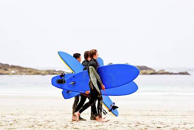 Photograph - Sennen Surf Dudes by Terri Waters