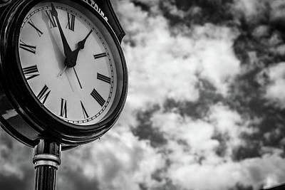 Photograph - Clock And Clouds - Senoia, Georgia by Randy Bayne