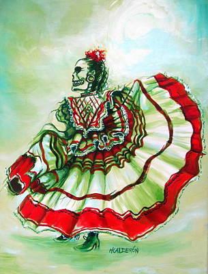 Mexican Landscape Painting - Senora De La Noche by Heather Calderon