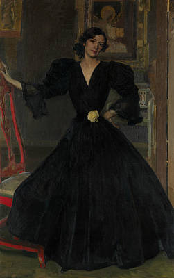 Painting - Senora De Sorolla In Black by Joaquin Sorolla