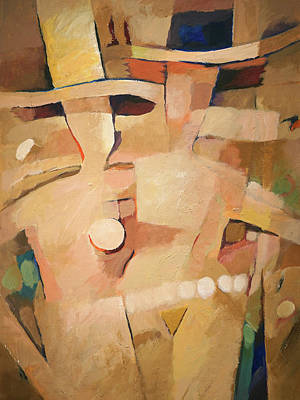 Painting - Senoras Con Sombreros by Lutz Baar