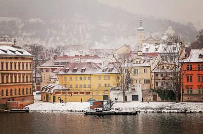 Photograph - Sense Of Flight. Wintry Prague by Jenny Rainbow