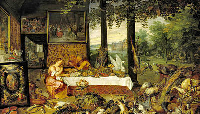Photograph - Sense Of Taste  by Jan Bruegel the Elder