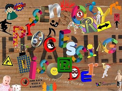 Digital Art - Sensory Processing Disorder by Steven Brier