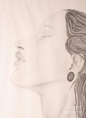 Closeup Drawing - Sensual by Andreas Berheide