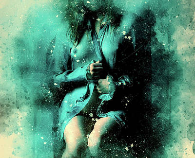 Mixed Media - Sensual Blues by Ractapopulous