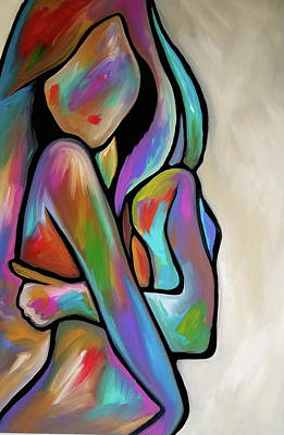 Painting - Sensual Calm by Tom Fedro - Fidostudio