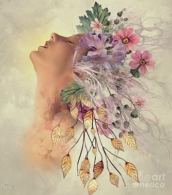 Sensual Flowers Art Print by Ali Oppy