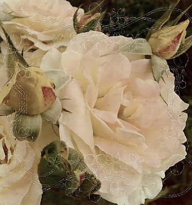 Silks Mixed Media - Sensual Kiss Of Yesteryear by Georgiana Romanovna