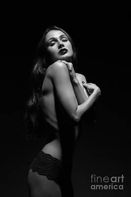 Sensual Luxury Woman Art Print by Aleksey Tugolukov