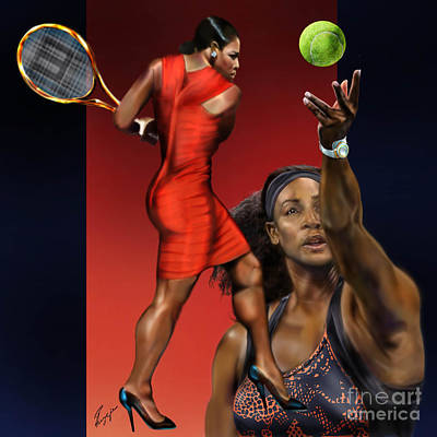 Serena Williams Painting - Sensuality Under Extreme Power - Serena The Shape Of Things To Come by Reggie Duffie